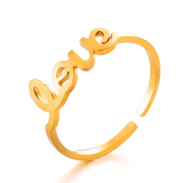 Unique Adjustable Ring Set Punk Style Gold Color Knuckle Rings For Womenintothea-intothea