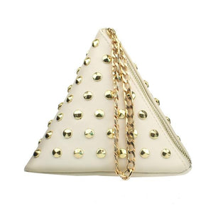 PU Leather Triangle Shape Vintage Fashion Stylish Design Small Casual Bag Purseintothea-intothea