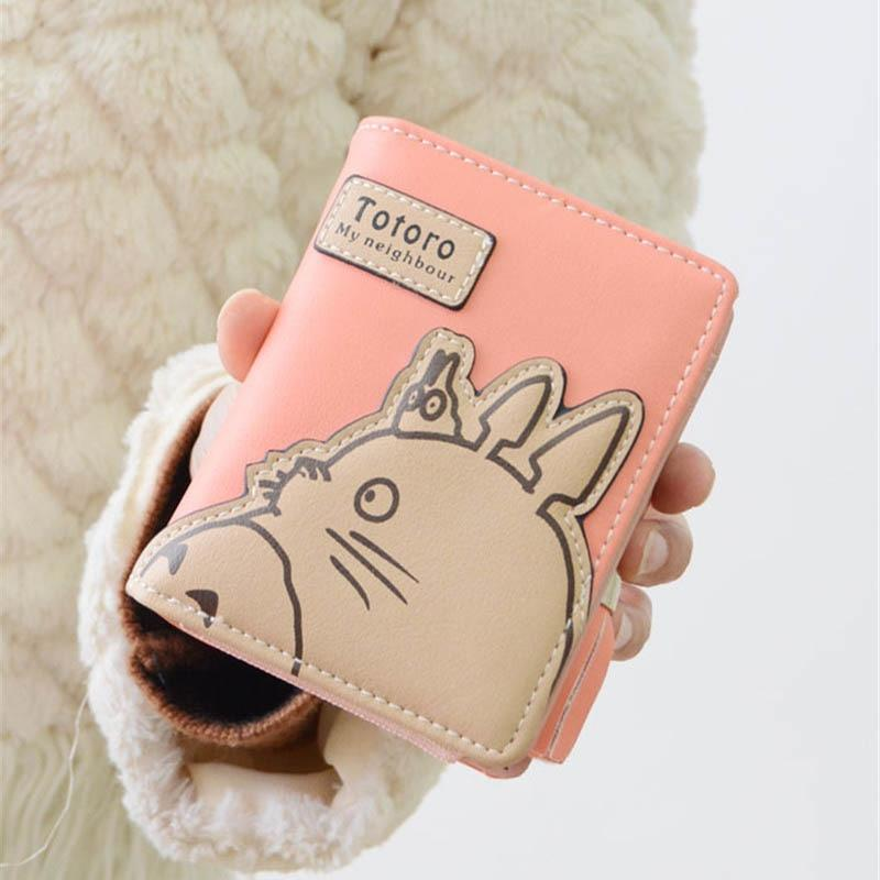 New Arrival Totoro Cartoon Short Wallet Women Girls My Neighbor Totoro Cardintothea-intothea
