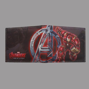 Cartoon Anime Ironman Wallet carteira Marvel Comics Iron Man Anniversary Purse Dollarintothea-intothea