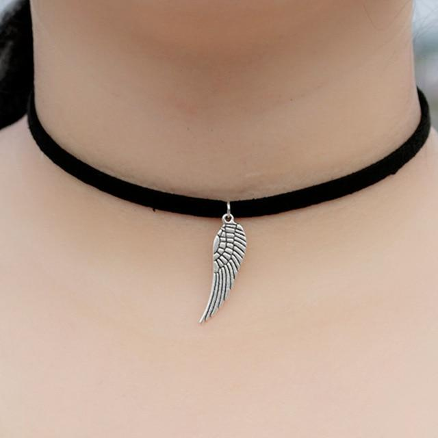 New Vintage Punk Gothic Snowflake Wing Heart Leaf Feather Coin Spider Tattoointothea-intothea