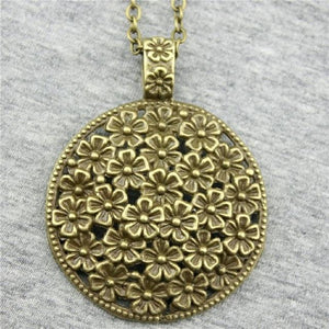 2 Colors 58x45mm Bohemia Flowers Pendant Necklace, Fashion Bohemia Jewelry Giftintothea-intothea