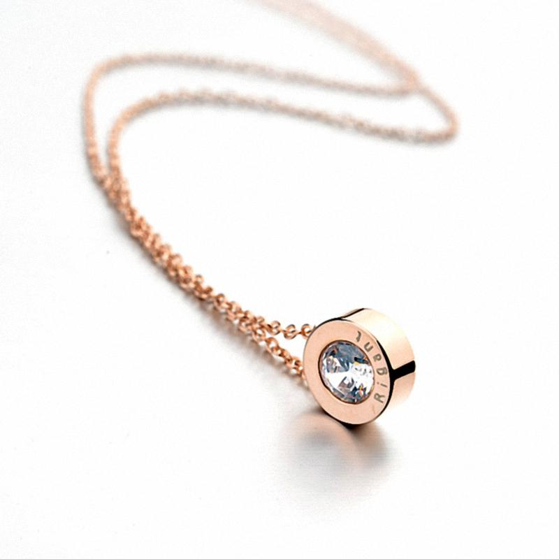 New Sale Hot AAA zirconia Copper Pendant Rose Gold Color Necklaceintothea-intothea