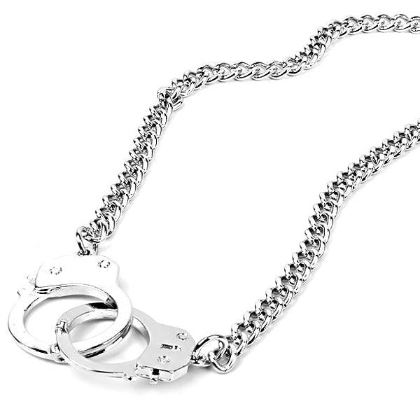 Trendy Handcuff Pendant Necklace For Women Men Steampunk Fashion Jewelry Lover's Collarsintothea-intothea