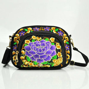 Embroidery Floral Women Messenger Bag Hmong Vintage Chinese National Style Crossbody intothea-intothea
