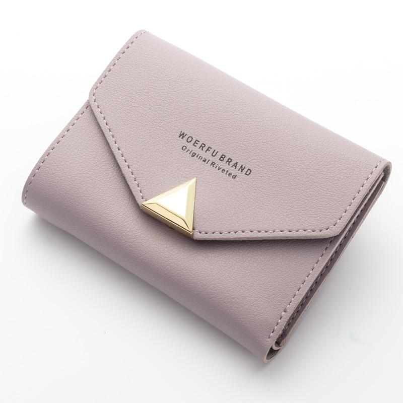 Women Wallet Short Leather Ladies Metal Designer Wallets for Women Mini Candyintothea-intothea