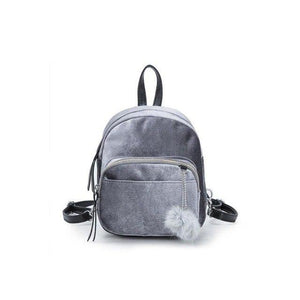 Women Girls Mini Velvet Backpack Small Fashion Travel School Student Shoulder Bagintothea-intothea