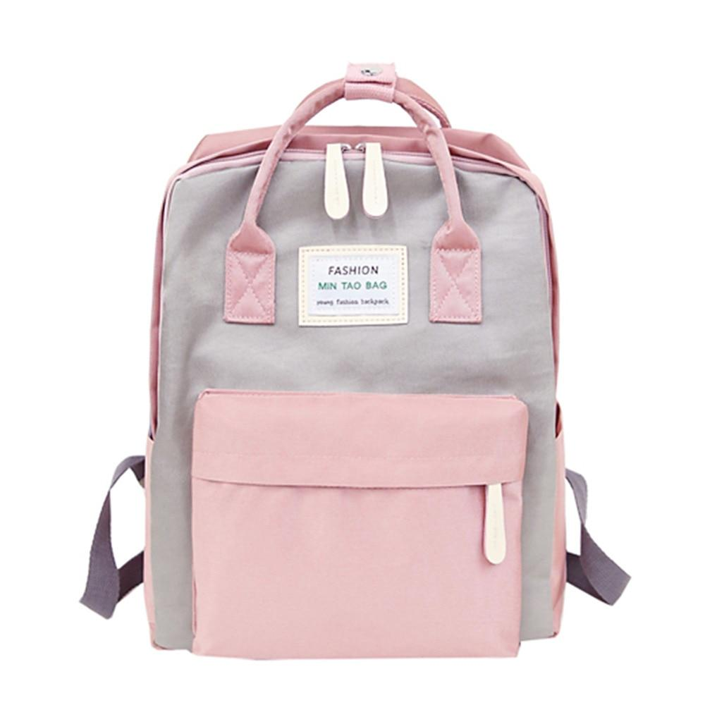 Nylon Waterproof Women Backpack Casual Youth Korean Style Rucksack Laptop Portable SchoolBagsintothea-intothea