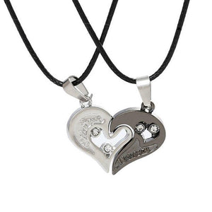 Heart Couple Necklaces for Lovers I Love You 1/2 Romantic Necklace Pendantintothea-intothea