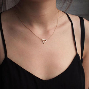 Simple Chains Necklaces Triangle Necklace Delicate Minimal Triangle Necklace For Women Charmintothea-intothea