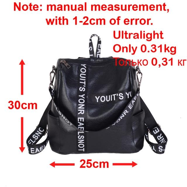 just 0.31kg Ultralight PU Leather Women Backpacks Female Travel Backpack Women Bagintothea-intothea