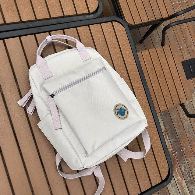 Women Yellow Red Back Packs Feminine Canvas Backpack For Teenager Girlsintothea-intothea