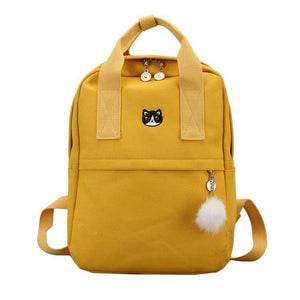 schoolbag Korean Style Canvas Shoulder Bag Laptop Backpack Female School Bags Packintothea-intothea