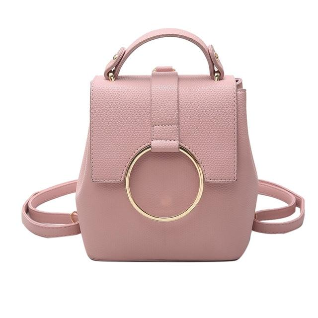 Joypessie Fashion Women Backpack College Mini Shoulder Bag Pu leather High Qualityintothea-intothea