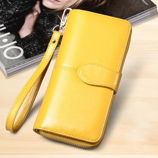 Baellerry Yellow Wallet Women Top Quality Leather Wallet Multifunction Female Purse Longintothea-intothea