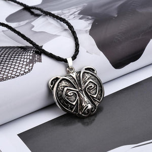 Bear Head Necklace Legend Amulet Viking Norse Pendant Talisman Jewelryintothea-intothea