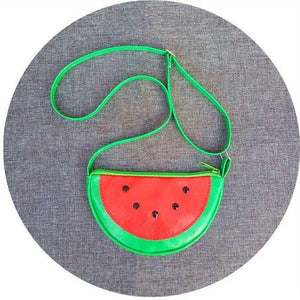 new cartoon Cute Child's Coin bag fruit strawberry watermelon pineapple kids Shoulderintothea-intothea
