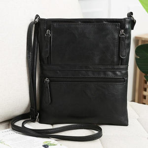 Genuine Leather Messenger Bags Women Zipper Travel Business Cross body Shoulder Bagintothea-intothea