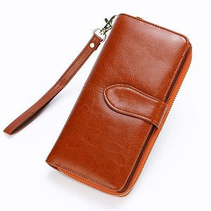 Women Real Leather Wallet Female Long Genuine Leather Clutch Purse Ladyintothea-intothea