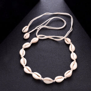 White Shells Choker Necklace For Women Lucky Maxi Chokers Necklaces Collares Collierintothea-intothea