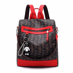 2018 new retro fashion zipper ladies backpack leather high quality school bagintothea-intothea