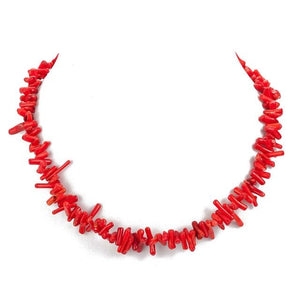 2018 New Arrival Pink Red White Natural Coral Chain Choker Necklacesintothea-intothea