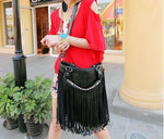 New Fashion Women Bag Celebrity Tassel Fringe Shoulder Messenger Handbag CrossBody Highintothea-intothea