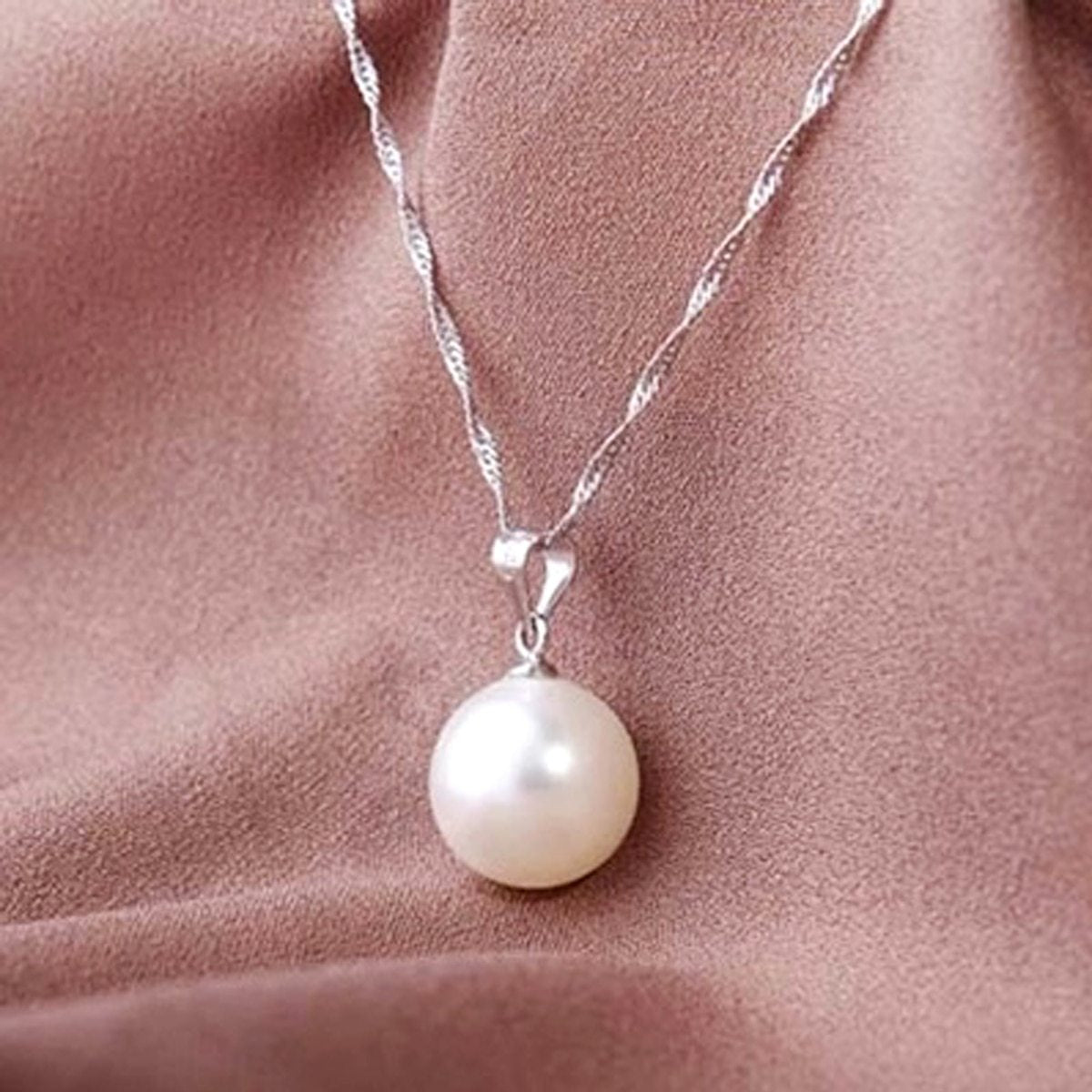 Vintage Love Wish Pearl Chain Necklace White Imitation Pearl Necklace Oysterintothea-intothea
