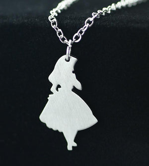 SUTEYI Newest Design Alice In Wonderland Necklace Princess Stainless Steel Pendant Womenintothea-intothea