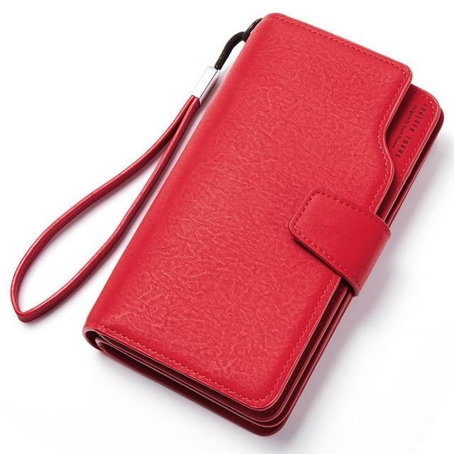 Wallet Female PU Leather Wallet Leisure Purse Red Style 3Fold Top Qualityintothea-intothea