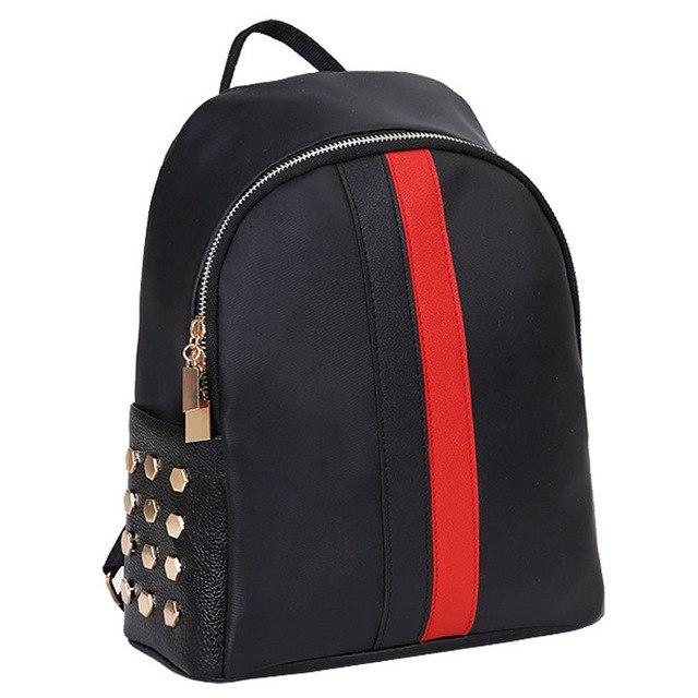 Women Shoulder Bags Girls Fashion Oxford Preppy Rivet Shoulder Bookbags School Travelintothea-intothea
