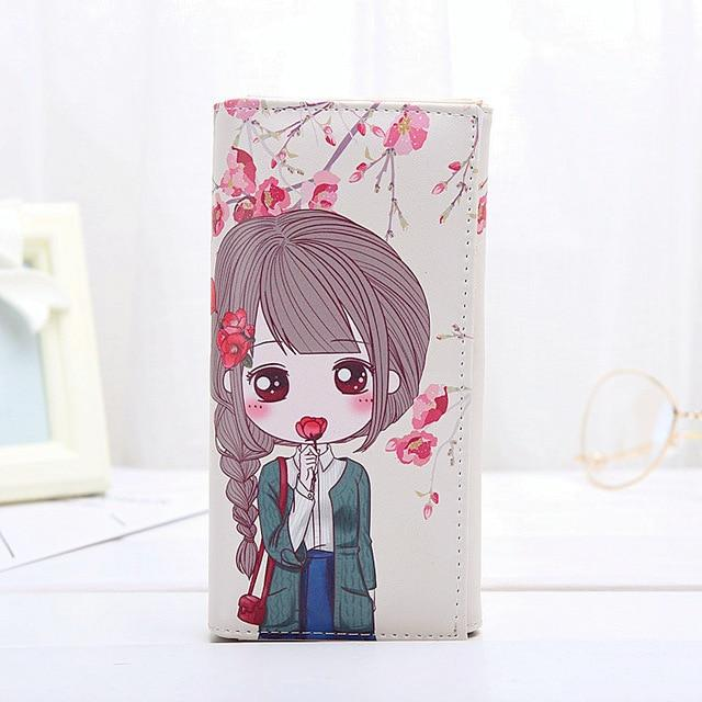 Cute Girls Coin Purse Fashion Women Wallets Lady Purses Pocket Clutch Longintothea-intothea