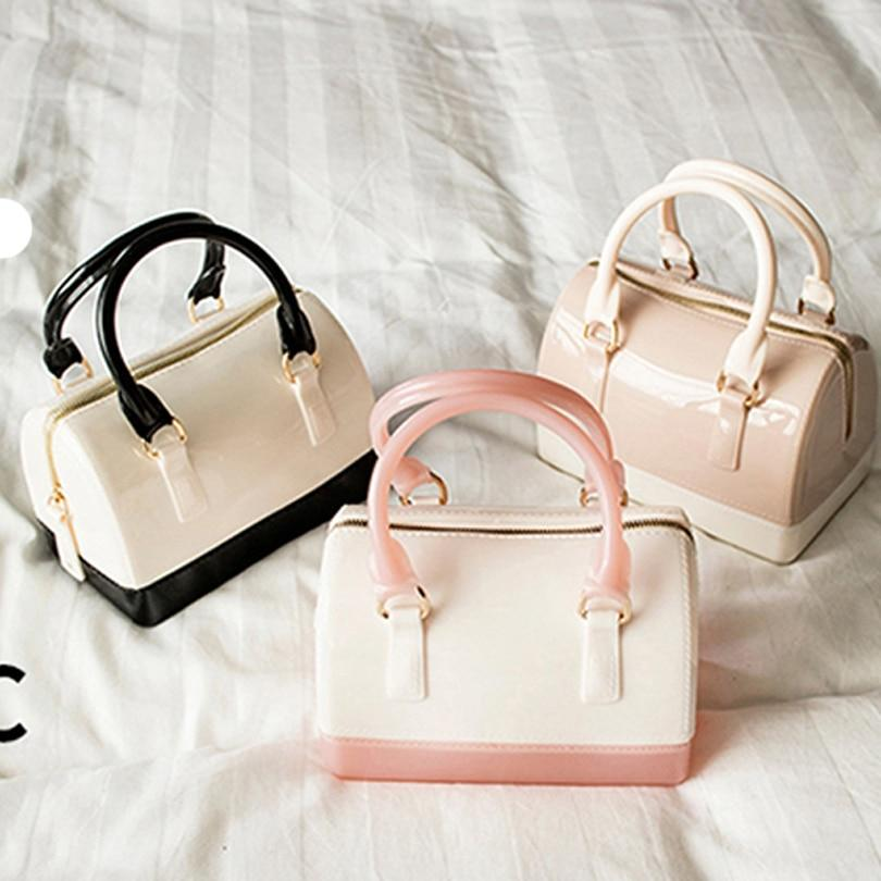 Casual Women Silicone Summer Sweet Handbags Tote Bag Girls Pouch Bolsas Famousintothea-intothea