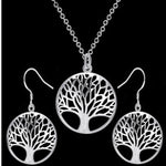 2018 round hollow wishing tree pendant necklace life tree Tree Of Lifeintothea-intothea