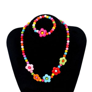 Hot Fashion 1 Set Necklace And Bracelet Candy Color Butterflies Baby Safeintothea-intothea