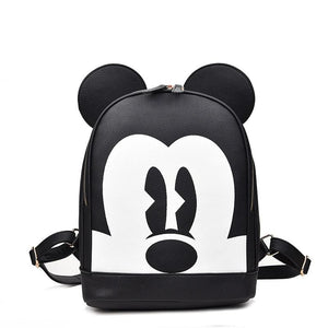 2019 Fashion mickey woman backpack pu leather black backpack mini travel backpackintothea-intothea
