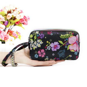 Fashion National printing Ladies Cute 3 Layer Women Wallets Bag Zipper Purseintothea-intothea