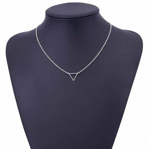 Charm necklace metal triangle Pendant Necklaces ladies giftintothea-intothea