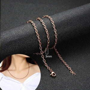 Vnox 2-8mm Stainless Steel Snail Curb Belcher Rolo Snake Chain Necklace forintothea-intothea