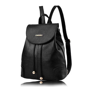 2018 Brand New Backpack Ladies Black Backpacks High Quality Leather Fashionintothea-intothea