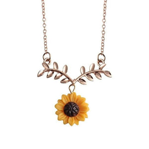 Daily Jewelry Pendant Personality Gift Women 6g Gift Banquet Sunflower Party Chainintothea-intothea