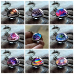 2018 New Nebula Galaxy Double Sided Pendant Necklace Universe Planet Jewelry Glassintothea-intothea