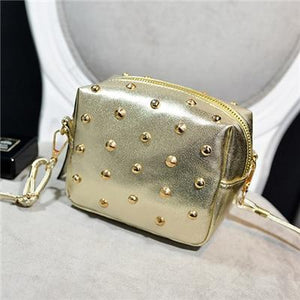 Flap Shopping Satchel Coin Purse Handbags Rivet Sequined Shoulder Messenger Pack Ladyintothea-intothea