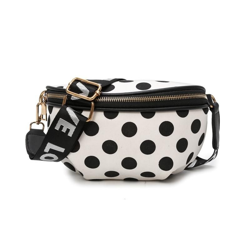 Women's Polka Dot Chest Bag 2018 New High Quality Canvas Designer Ladiesintothea-intothea