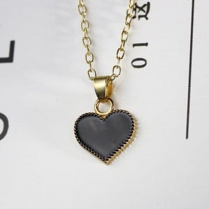 Fashion Hot New Trendy Red Heart & Butterfly Pendant Necklace Clavicle Chainintothea-intothea