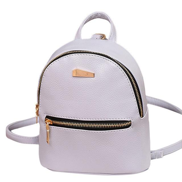 Hot Backpack Women pu Leather School Rucksack College wind Shoulder Satchel Bagsintothea-intothea