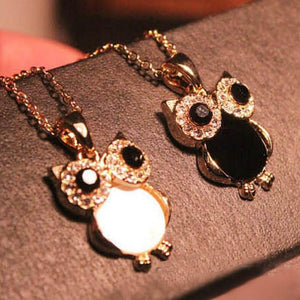 Mossovy Vintage Owls Zircon Pendants for female Fashion Rhinestone Jewelry for Womanintothea-intothea