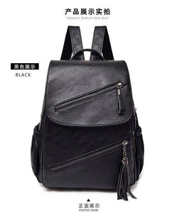 2018 Fashion Women Leather Backpack High Quality Youth PU Leather Backpack forintothea-intothea