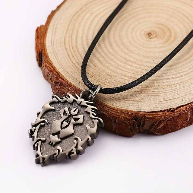 SUROU 2018 Game World Of Warcraft Pendant Jewelry Men Neckalce Tribe Allianceintothea-intothea