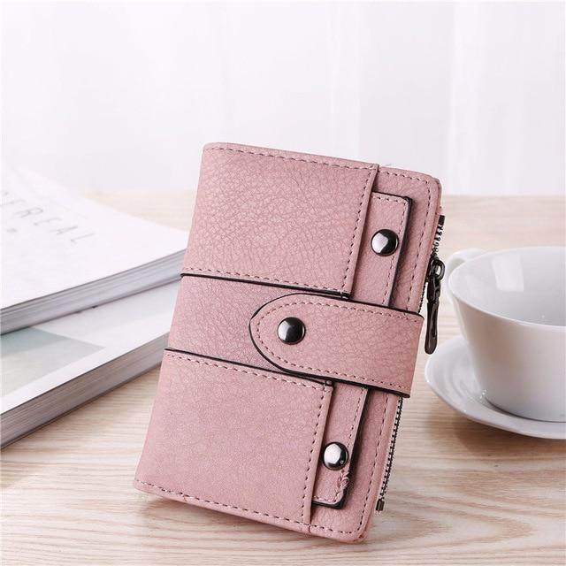 2018 New Vintage Leather Women Wallet Female Coin Purses Small Pocket Walletintothea-intothea